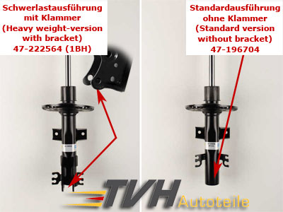 Unterschied Stoßdämpfer am VW T5